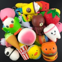 kawaii chicken Squishy Tooth/bear/ Slow Rising Kawaii Soft Squeeze Cute Cell Phone Strap Toys Kids Baby Gift squishies toy