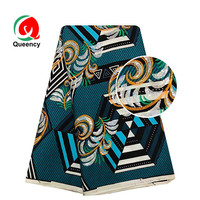 Queency Ankara Wax Print Style With Sequins New African Sequins Dashiki Material Textile for Sewing