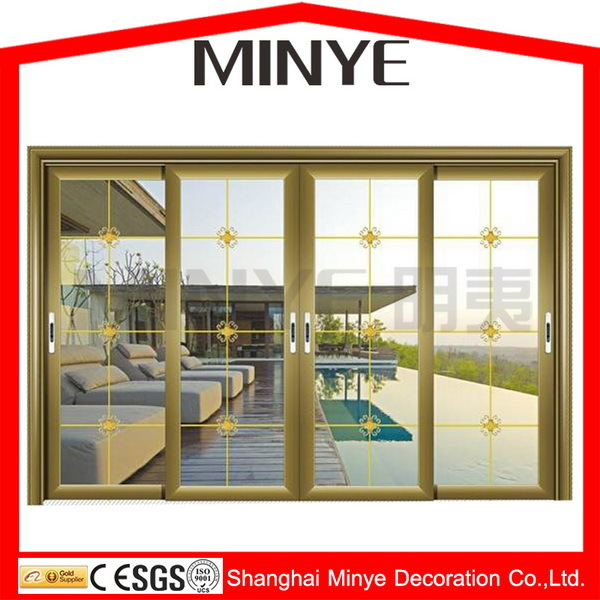 4 panel aluminum sliding door/exterior aluminum sliding door