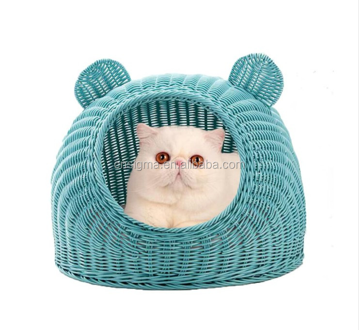 Indoor and outdoor rattan pet bed pet dog bed pet toys cat daybed