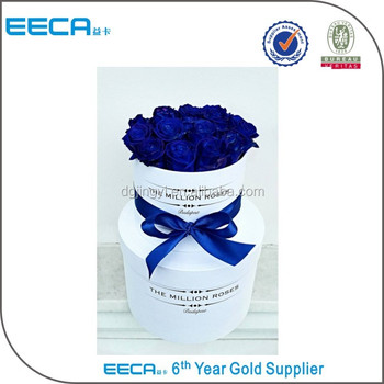 Pretty White Round Flower Gift Box Wholesale In Dongguan China