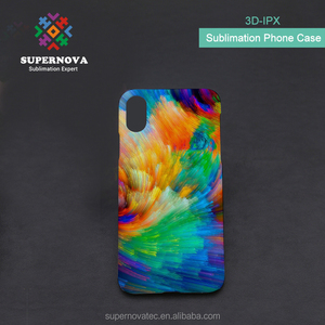 Dye Sublimation 3D Phone Case, Blank Hard PC Phone Cover, Sublimation Phone Case for iPhone X