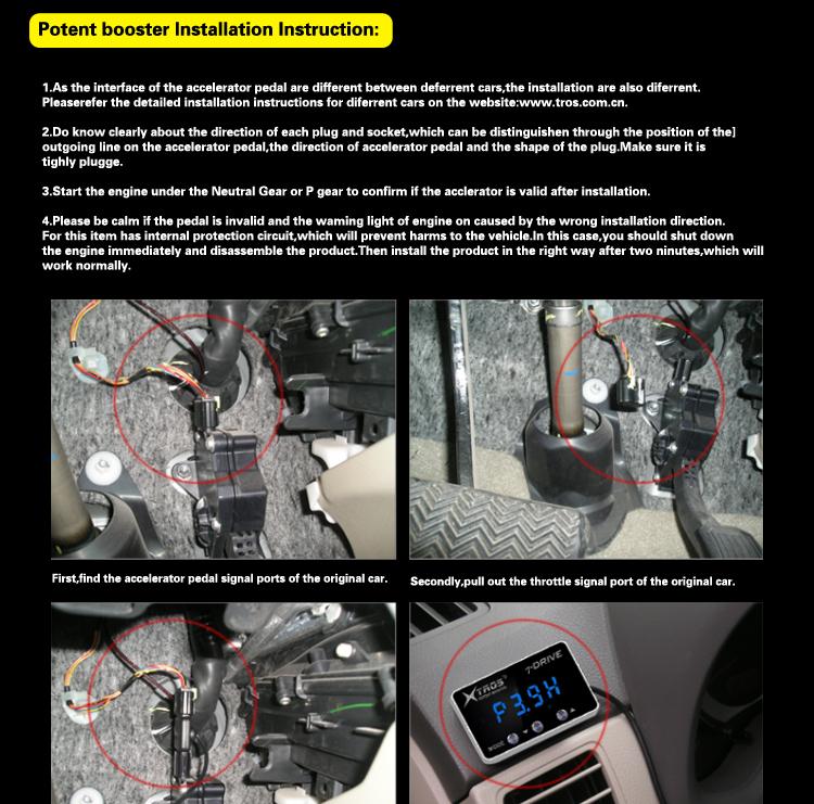 Potent booster ผู้ผลิต electronic throttle controller fit สำหรับ Honda CRV 2007-2018 อุปกรณ์เสริม