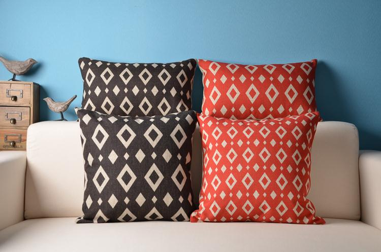 Free Shipping Boho elephant Giraffe Cotton Linen Fabric Decorative Cushion 45cm Hot Sale New Home Fashion Christmas Gift Pillow