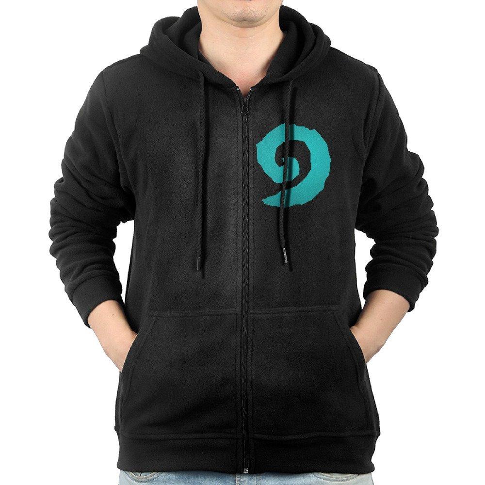 Men's Cards Online Game Hearthstone Cloud Logo Zip-Up Hoodie Sweatshirt