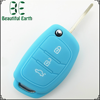 Fashionable 3 buttons colorful silicone car key case for hyundais remote key case lishi lock pick