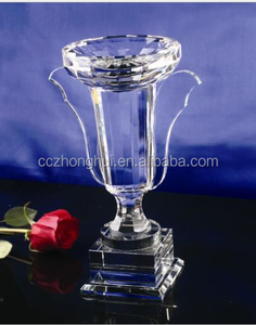 High quality crystal award & trophy & crafts Coloured glass throphy