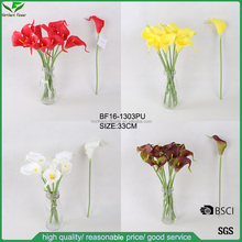 Decorativo artificiale PU fiori all'ingrosso, natural touch artificiale calla lilies