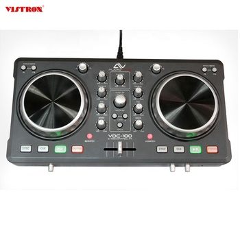 OEM ODM Supply Pro II DJ Controller Serato DJ 2-Channel DJ Controller with USB MIDI Performance Controller
