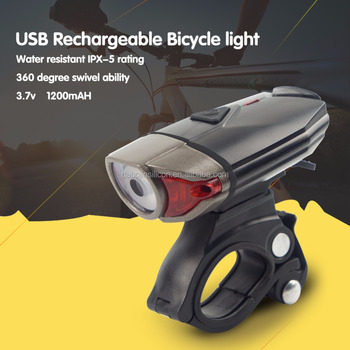 2017 Best Selling New Products Bicycle Accessories/Night Riding Rechargeable USB Front Bike Light