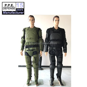 Police army green protector body gear light weight anti stab riot control suit