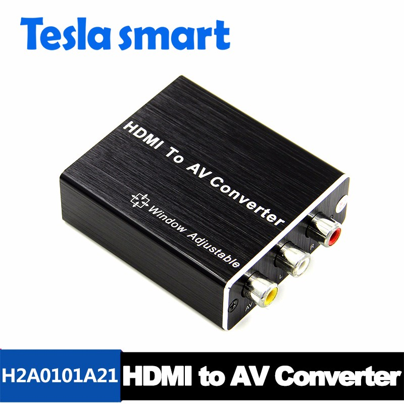 Mini 1080P Composite HDMI to AV RCA Video Converter Adapter Full HD 720/1080p HDMI2AV