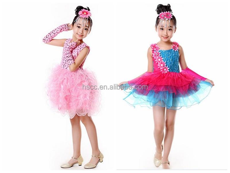 Chica de los nios de la danza latina vestido