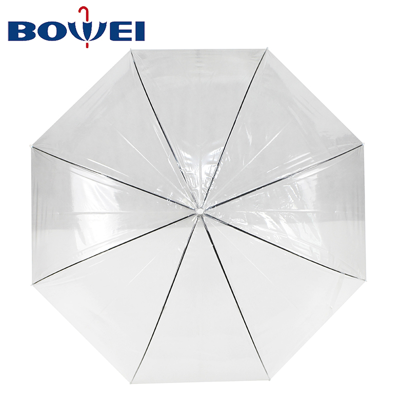 New model Advertising Transparent low cost umbrella with logo print