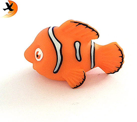 New Design Custom Rubber Animal Toy Cute Nemo Bath Toy With Good