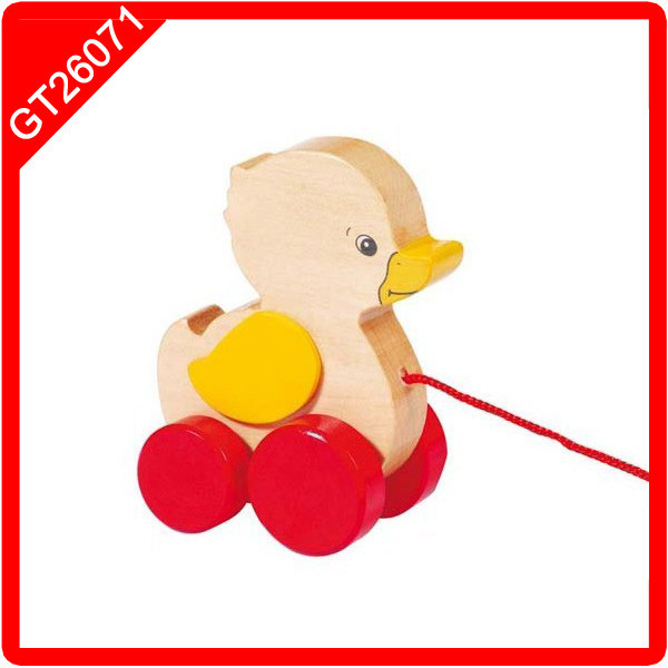 Push-along Duck pull line toy