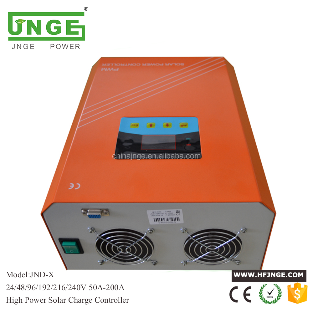 JNGE POWER wholesales high voltage 120a solar <strong>charge</strong> <strong>controller</strong> for solar system with LCD display