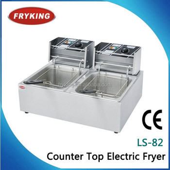 Commercial electric deep fryer for sale (LS-82), View electric deep ...