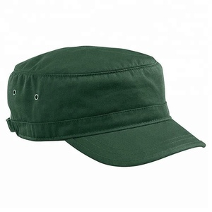100% Organic Cotton Twill Flat Military Corps Hat/types of military hats