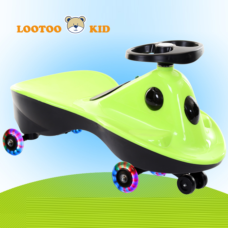 China cheap price PU wheel light and music ride on twist toy car for children