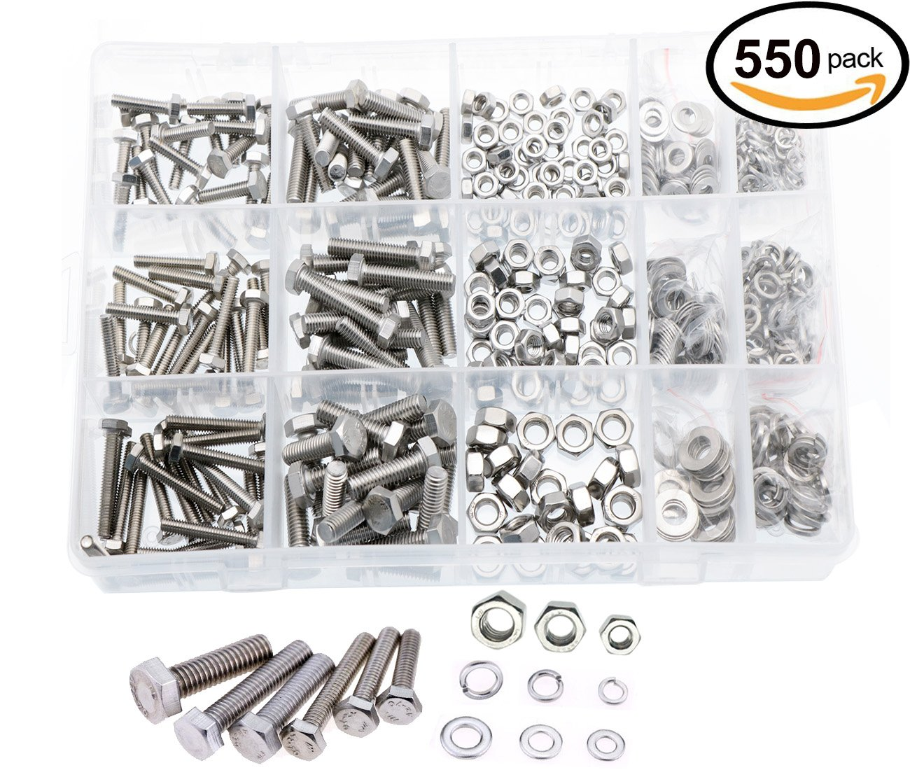 uxcell M12x1.25x10mm Zinc Plated Hex Nuts Fastener 20pcs for Screws Bolts