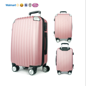 Wholesale Colorful lightweight Hard Case hardside Trolley travel bags 4 wheel spinner cooler suitcase luggage