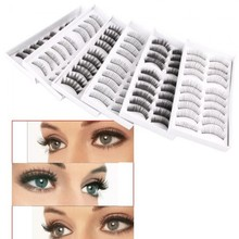60 Pair Assorted False Eyelashes Eyelash Makeup Party