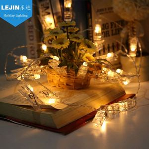 10 20 40 Leds Garland Card Photo Clip Led String Fairy Lights New Year Christmas Decoration