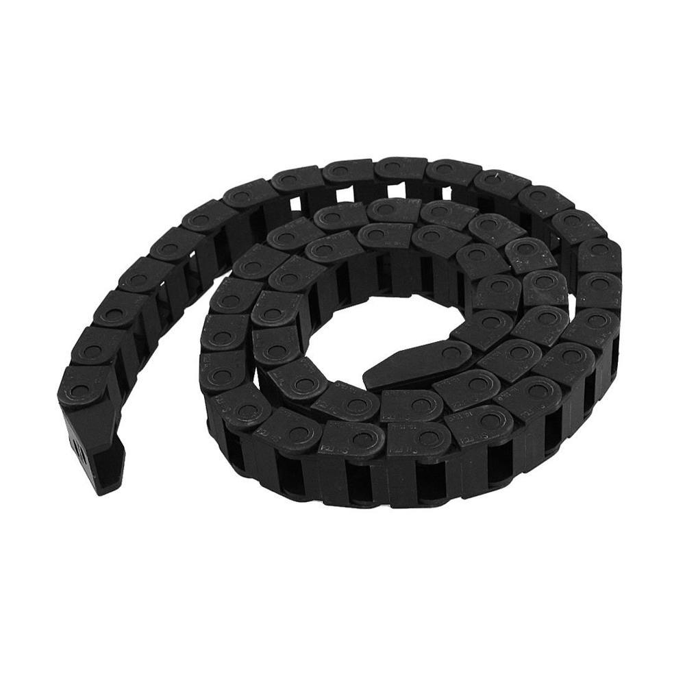 Новое поступление! черный пластик цепной кабель перевозчик 10 х 15 мм