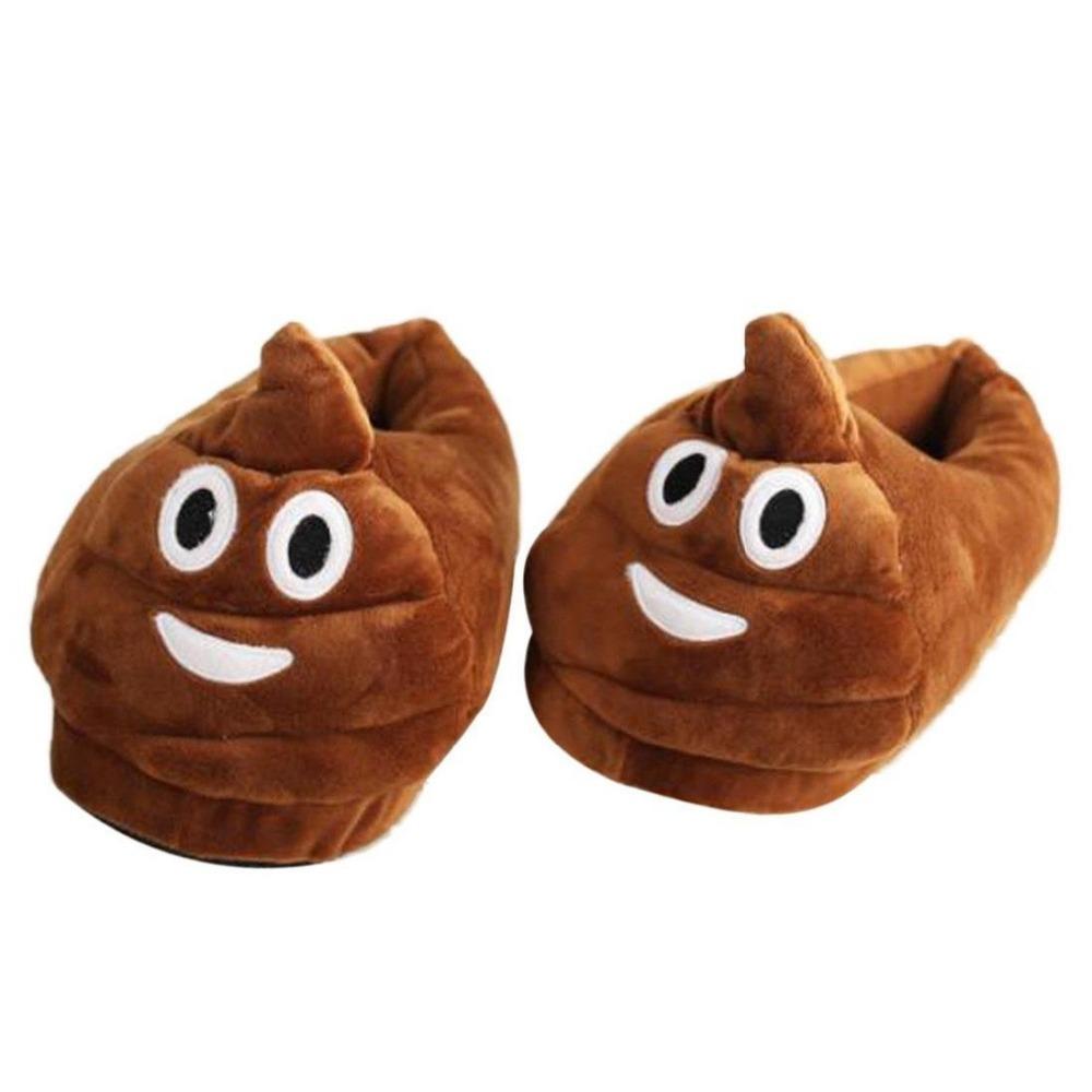 35d2e0da9289cf .poo Shape Plush Slippers Creative Expression Velvet Shoes - Buy .poo Shape Plush  Slippers