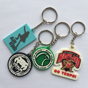 promotional eco-friendly soft pvc/silicone material custom design rubber keychain