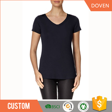 wholesale custom breathable v neck t-shirt unisex