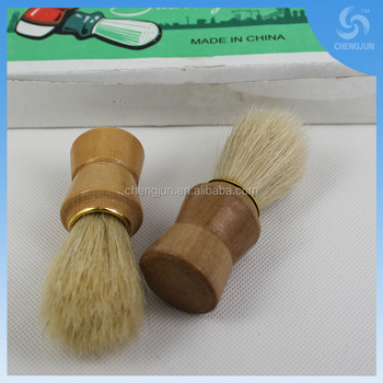 wooden and plastic handle shaving brush for man 731