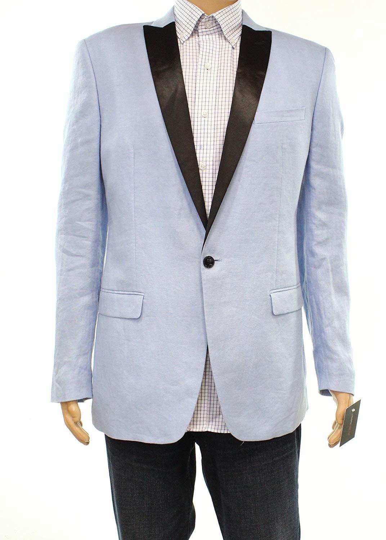 6b3105d1107 Get Quotations · Bar III Mens Linen Dinner One Button Blazer Jacket