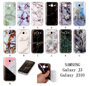 TPU marble pattern mobile cases covers for samsung galaxy j3 j300 j310 j3000