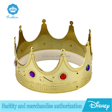 Custom Jewelry Plastic Gold King Tiara Crown