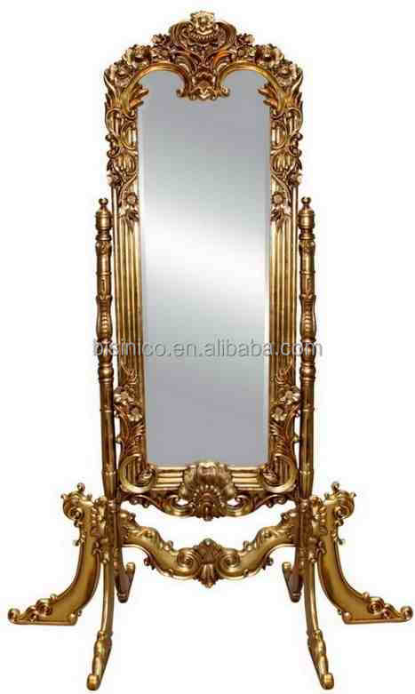 rectangular decorative mirror gold classical design rectangular decorative dressing mirror european royal style floor standing mirror with shelf mirroreuropean