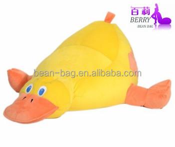 Cute Kid Bean Bag Chair Animal Shaped Sofa Duck