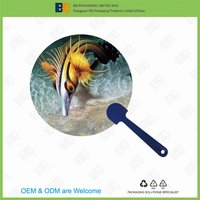 HOT SALE high quality 3D lenticular plastic hand fan for promotion and gift