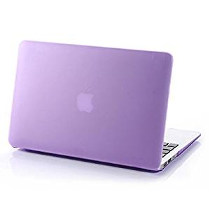 """HQF Frosted Matte Shell Case, Ultra-thin Rubberized Silky-Smooth Protective Hard Shell Case Cover for Apple 13-inch MacBook Pro 13.3"""" with Retina Display A1502/A1425 [No CD-ROM](Purple)"""
