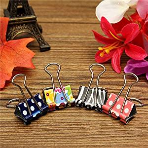 19mm Floral Foldback Binder Clips Metal Grip For Office Paper Documents / 19mm Floral Foldback Binder Clips Metal Grip For Office Paper Documents . . : . Material: Metal . . Size: 3.5CM x