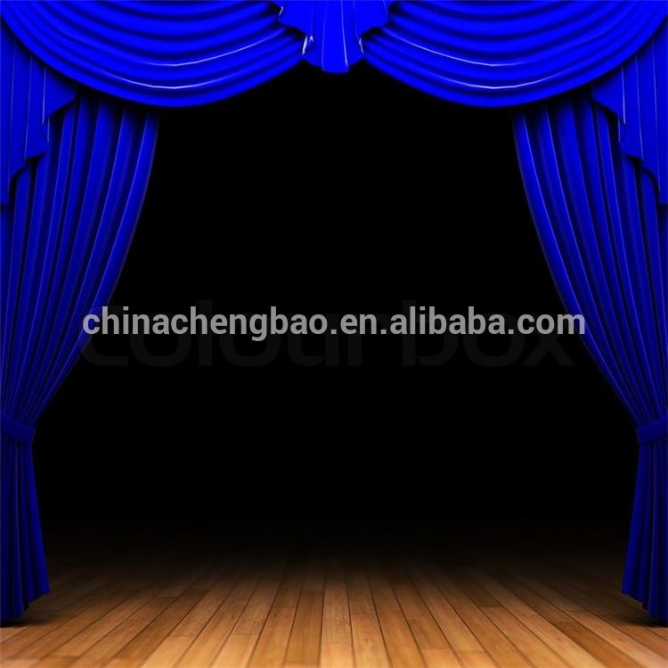 Used Theatrical Drapes: Blue Velvet Stage Curtains