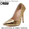 elegant dress shoes for women gold high heels wholsale china PZ4333