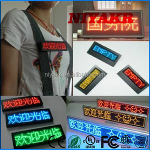 Niyakr Factory Price Programmable Usb Recharge Battery Led Name Tags