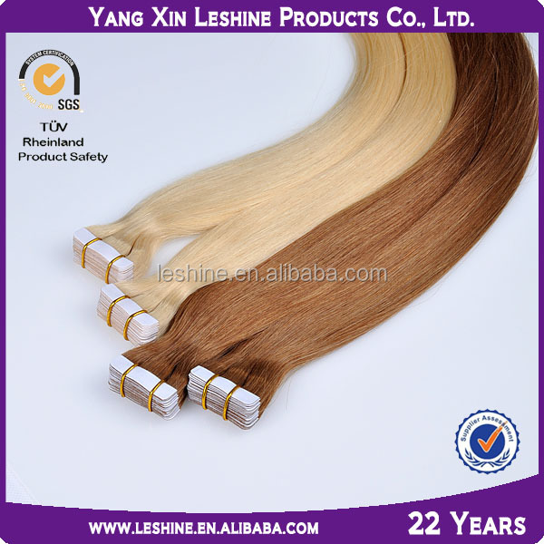 brand name alibaba certified 8a9a grade wholesale virgin 2.5g remy skin weft pu glue virgin tape hair extensions