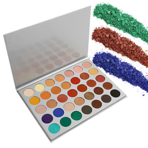 OEM eyeshadow palette pressed glitter eyeshadow romantic color makeup custom customize 35 color