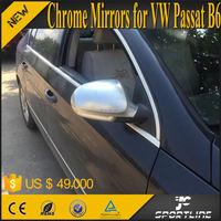 Chrome Alu Matt Alloy Auto Mirror Caps For Vw Passat B6 Jetta ...