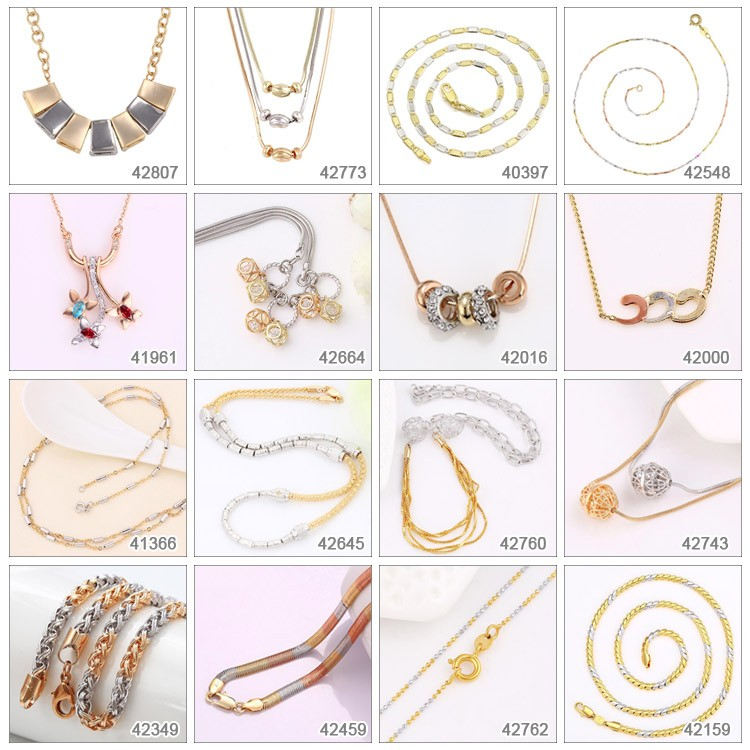 44320 Xuping newest characteristic designs gold long chain necklace designs