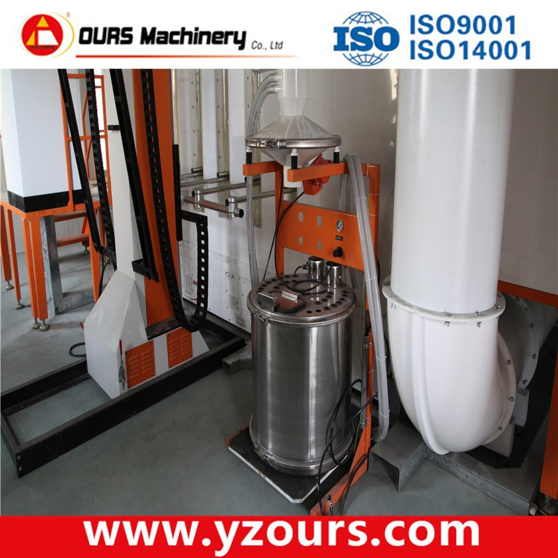 Plastic Powder Coating Booth Automatic Mono cyclone Powder recovery system