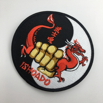 Best selling logo patches embroidered iron on fabric